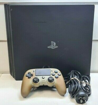 AU205 • Buy Sony PlayStation PS4 Pro 1TB Black Gaming Console +1x Wired Controller CUH-7002B