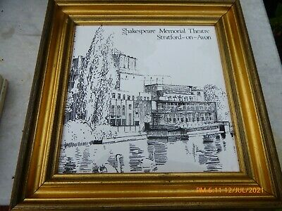 £4 • Buy - A Frame Tile Hand Painted. By Hereford