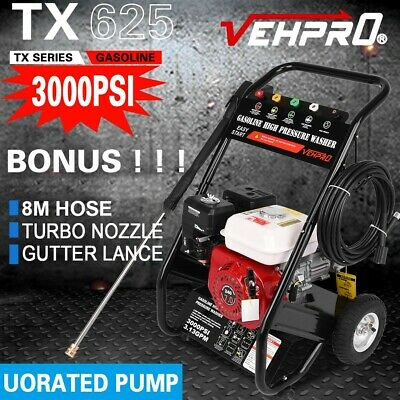 £209.98 • Buy Petrol  Pressure Washer 3000PSI High Power Jet Powerful Wash Patio Car Cleaner