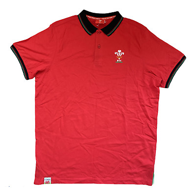 £14.99 • Buy Wales Rugby Polo Shirt Men's Fanatics WRU Classic Polo - Red - New