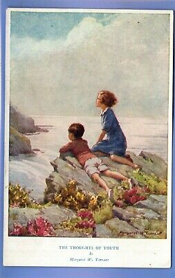 £1.99 • Buy Vintage Postcard Artist Signed Margaret Tarrant The Thoughts Of Youth Children