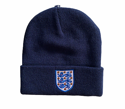 £9.99 • Buy England Football Adult Beanie Embroidered Crest Beanie - Navy - New