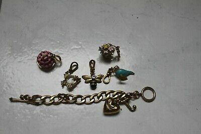£24 • Buy Juicy Couture Charm Bracelet And 5 Charms Missing Stones Or Damaged Used Lot