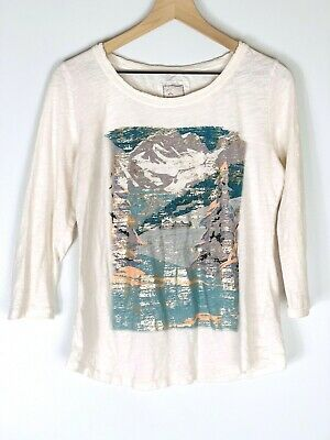 $ CDN21.39 • Buy Anthropologie Postmark Women's Top M Mountain Long Shirt With Gold Accents
