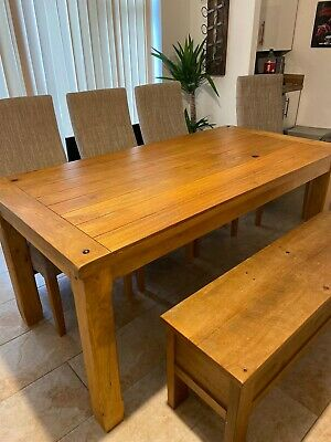 £360 • Buy Dinning Table And Chairs From Oak Furniture Table + 4 Chairs /Separately Bench