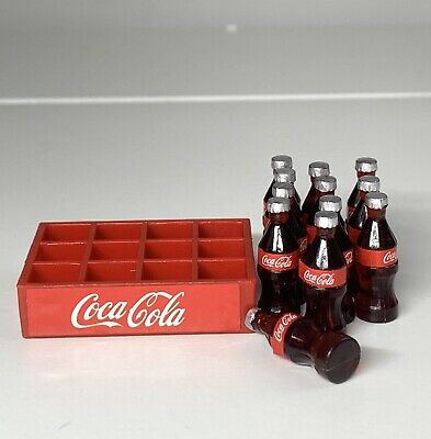 £3.80 • Buy Doll House Miniature Crate Of 12 Bottles Coca Cola 2.5cm Height