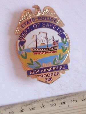 £23 • Buy US State Police Badge New Hampshire Dept. Of Safety