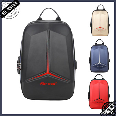 $20.99 • Buy Men's Cross Body Bag Chest Shoulder USB Laptop Pouch Anti Theft Small Backpack