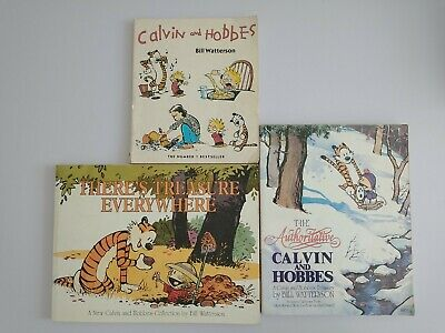 £9 • Buy X 3 Calvin And Hobbes Books By Bill Watterson Paperback