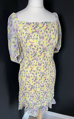 AU5.61 • Buy Womens Missguided Maternity Multicoloured Shirred Floral Dress Size 16