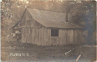 $27.49 • Buy RPPC  The Old Mill  Wooden Lumber Mill Building Stoner Photograph Early 1900s