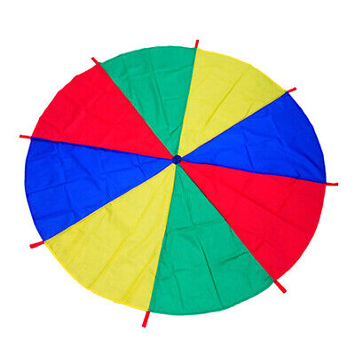 £9.14 • Buy 6~16 Foot Multicolored Kid Play Parachute With 8 Handles Outdoor Games Toy