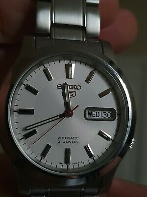 $ CDN37.77 • Buy Seiko 5 Mens Automatic Dress Watch Looks New And Runs Great Skeleton Back