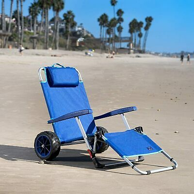 $129.98 • Buy Mac Sports 2-in-1 Beach Chair Day Folding Lounge Chair Cargo Cart For Outdoors