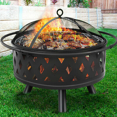 AU117.90 • Buy Grillz Portable Outdoor Fire Pit BBQ Camping Garden Patio Fireplace Heater