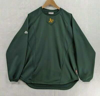 $19.98 • Buy Oakland Athletics Majestic Pullover XL Green Long Sleeve Mid-Weight Active Top