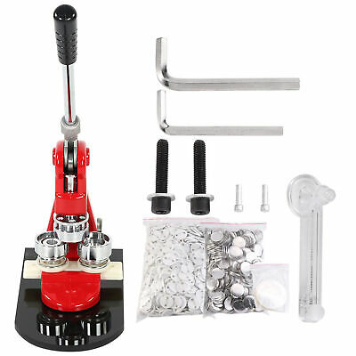 £102.05 • Buy 25mm Badge Punch Press Maker Machine With 1000 Circle Button Parts+Circle Cutter