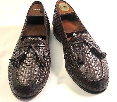 £71.38 • Buy Bally Continental Weave Woven Brown Tassel Loafers Men's Shoes Size 8.5w