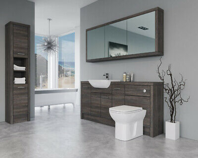 £2045 • Buy Bathroom Fitted Furniture 1800mm Mali Wenge D6 With Wall & Tall Unit - Bathcabz