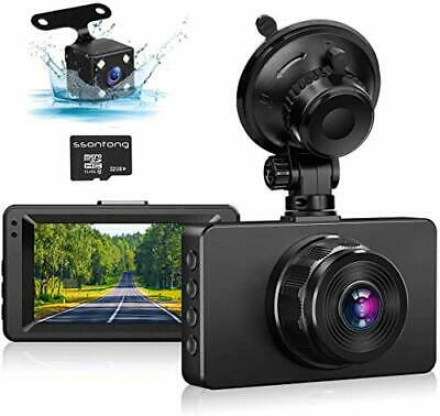 AU84.64 • Buy Dash Cam Front And Rear Dash Camera For Cars 1080P Full HD Dual Dash Cam 3  I...
