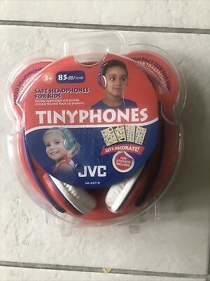 £10.99 • Buy JVC Tinyphones With Stickers Red And Blue - Safe Headphones For Kids HA-KD7-R