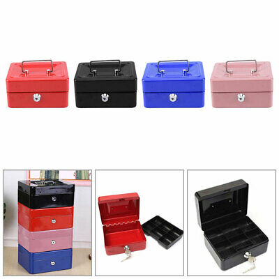 £12.99 • Buy Metal Cash Box Bank Deposit Steel Tin Security Safe With Petty Key Lockable Home