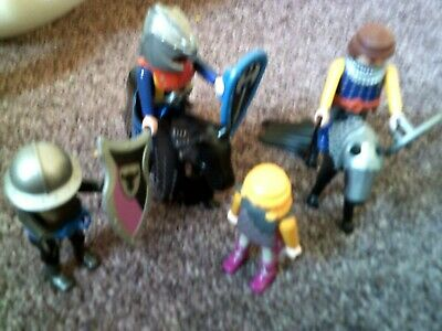 £3 • Buy Playmobil Knights - 2 Knights On Horse Back With Accessories