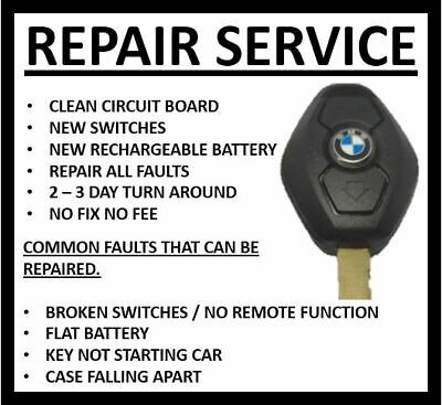 £17.50 • Buy Repair Service Bmw Diamond 3 5 6 7 Series 3 Button Remote Key Fobs New Battery