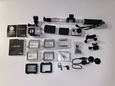 $ CDN125.88 • Buy GoPro Hero 3+ Silver And Black Session Mount & Waterproof Casing And Accessories