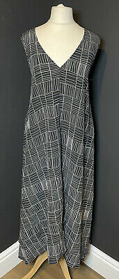 £26 • Buy Marks And Spencer Autograph Black And White Pure Silk Sleeveless Dress Size 16