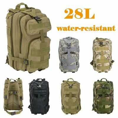 AU29.99 • Buy 28L Outdoor Hiking Camping Bag Army Military Tactical Rucksack Backpack Trekking