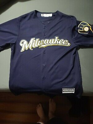 $40 • Buy Milwaukee Brewers Majestic Jersey Eric Thames #7  Size M Brand New Never Worn