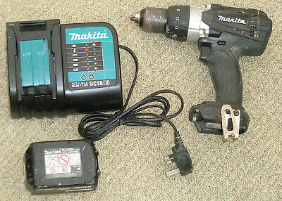 £31 • Buy Makita DHP458 18v LXT Combi Drill / Driver With Battery & Charger