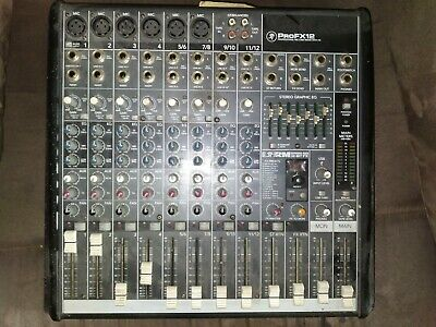 $149.99 • Buy Mackie ProFX12 12 Channel Mic/Line Mixer With 32 Bit FX Effects