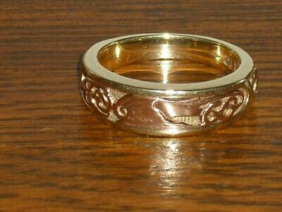 £450 • Buy Clogau Welsh Gold Dragon Ring Hallmarked Welsh Dragon. Heavy 8.3 Grams.Size T1/2