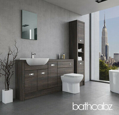 £1295 • Buy Bathroom Fitted Furniture Mali Wenge A1 1600mm With Tall Units - Bathcabz