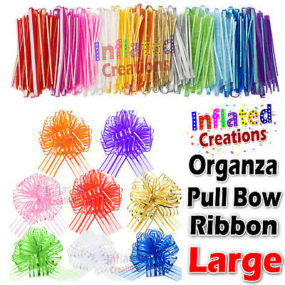 £2.47 • Buy 50mm Large Bow Organza Ribbon 20 Pull Bows Wedding Party Decor Gift Wrapping  UK