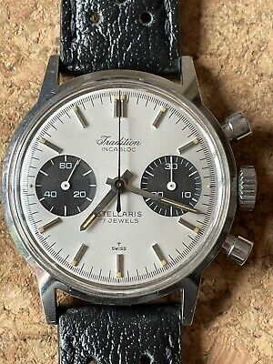 $ CDN1356.83 • Buy Vintage Tradition (Heuer) Chronograph Men's Wrist Watch Double Signed.