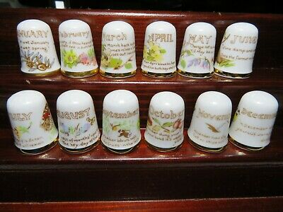 £19.90 • Buy Caverswall China Thimbles Collection Full Set   Days Of The Month