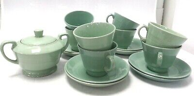 £10.49 • Buy 17 Pieces  Wood's Ware Beryl Tableware Part Tea Set Cups And Saucers #214