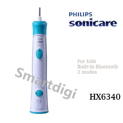 AU49.95 • Buy PHILIPS HX6340 Sonicare Kids Electric Bluetooth Connected Toothbrush Handle