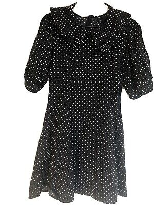 AU15 • Buy ASOS Size 14 Polka Dot Fit And Flare Dress