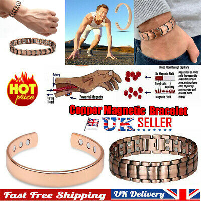 £3.30 • Buy Pain Relief Bangle Pure Copper Bracelet Magnetic Healing Bio Therapy Arthritis