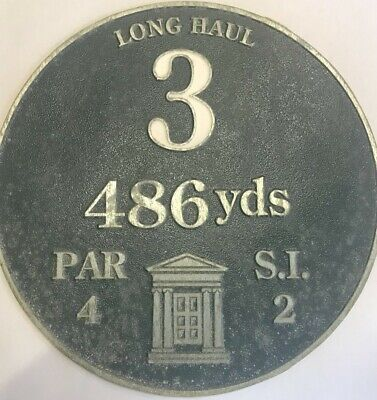 £25 • Buy Rare House Number 3 Long Haul /vintage Aluminium Golf Course Sign