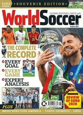 £2.20 • Buy WORLD SOCCER August 2021 EURO 2020 REVIEW # SOUVENIR EDITION #