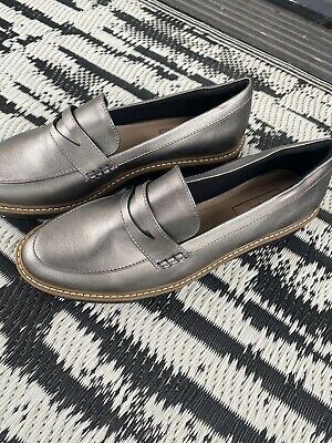 £10 • Buy New Marks And Spencer Womens Work Loafer Shoes Pewter Insolia Size 6
