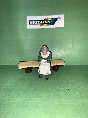 £12.99 • Buy Vintage Britains Lead Farm/Zoo Animals - Britain's Old Lady On Log Bench