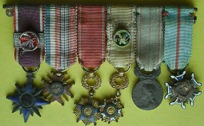 £65 • Buy +++ Mounted French Group Of 6 Miniature Medals +++