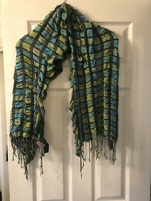 £7 • Buy Powder Blue And Green Scarf - Never Worn