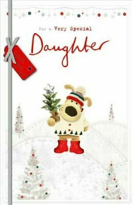 £5.95 • Buy Boofle For A Very Special Daughter Christmas Tree Pot Design Christmas Card